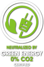Carbon Footprint Neutralized by Green Energy Certified 0% CO2